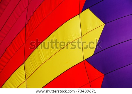 A closeup view of the wall of a hot air balloon