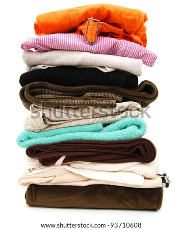 A clothing pile in housework