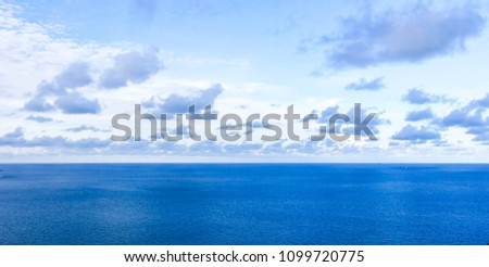 A cloud floating over the sea #1099720775