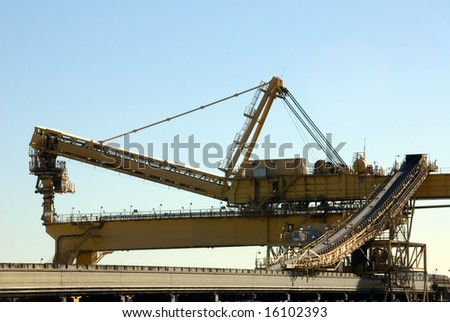 A coal loader in Newcastle Harbour, New South Wales, Australia