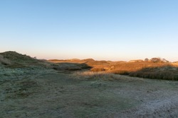 A coastal dry field with a shadow in Norderney