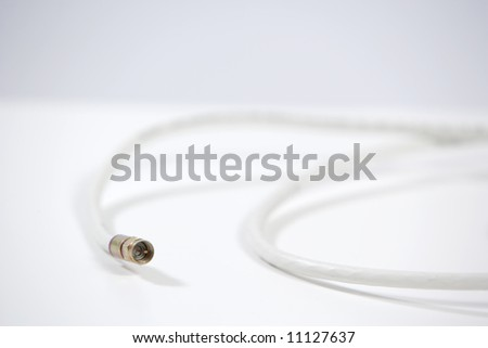 A coax video cable unplugged in the studio