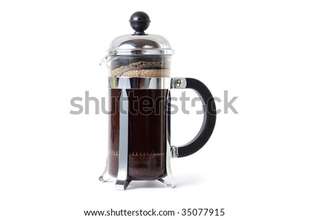 A coffee press isolated in a studio