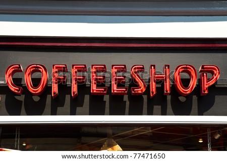 a coffee shop in amsterdam, Holland