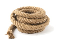 A coiled rope with end