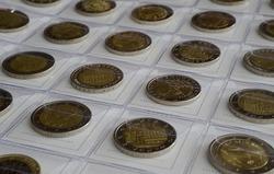 A coin collection of 2 euro commemorative coins