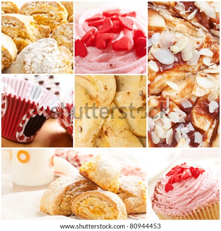 a collage of different kind of sweets