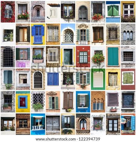 a collage of windows photos