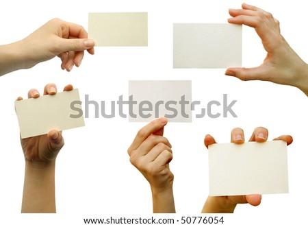 a collection of card blanks in a hand