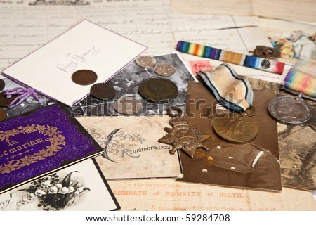 A collection of family documents
