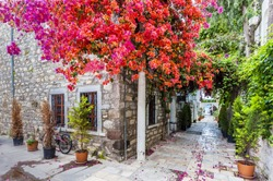 A colored street in Bodrum