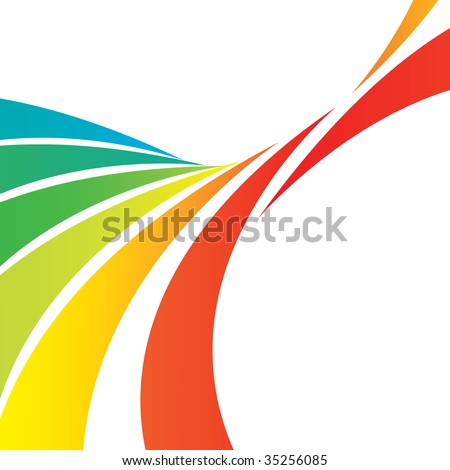 A colorful abstract design template with plenty of copyspace. This image makes a great background. - stock photo