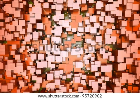 a colorful cubes abstract background