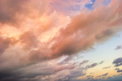 A Colorful Detailed Cloudscape at Sunset