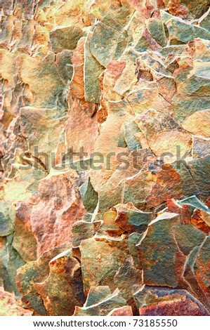 A Colorful Granite Brown Color Stone Background.