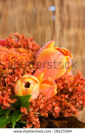 orange flowers bouquet. and orange bridal ouquet