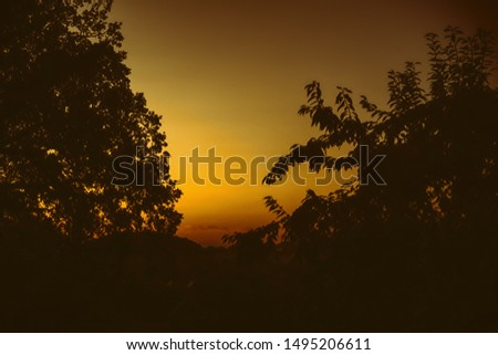 A colorful sundown in Germany #1495206611