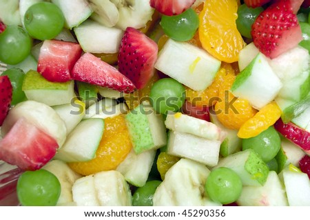 ... salad. This includes strawberries, grapes, tangerines,pears,ap ples