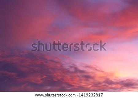 A Colorful Vibrant Cloudy Sunset/Sunrise Sky #1419232817