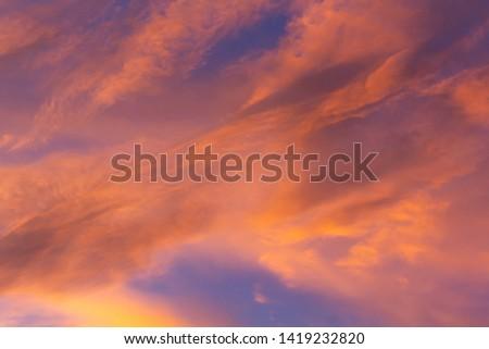 A Colorful Vibrant Cloudy Sunset/Sunrise Sky #1419232820