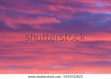 A Colorful Vibrant Cloudy Sunset/Sunrise Sky #1419232823