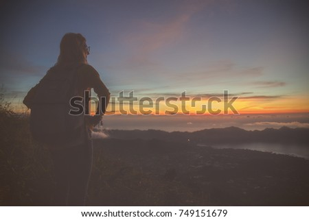 Shutterstock A colorful view from the mount Batur, Bali - Indonesia.