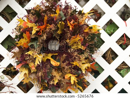 A colorful welcome Thanksgiving wreath