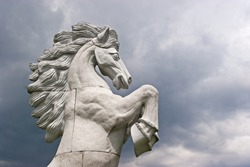 A colossal statue of a horse