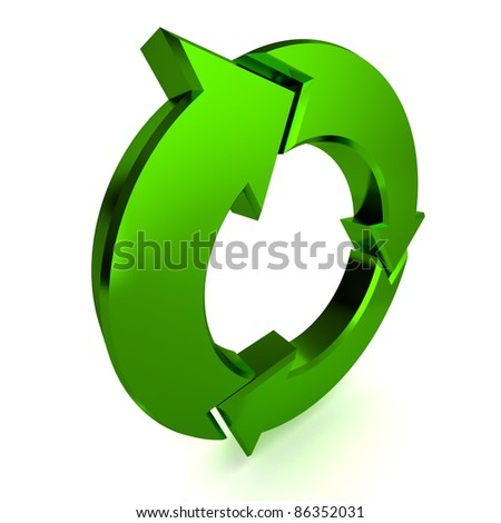 A Colourful 3d Rendered Green Process Arrow Illustration