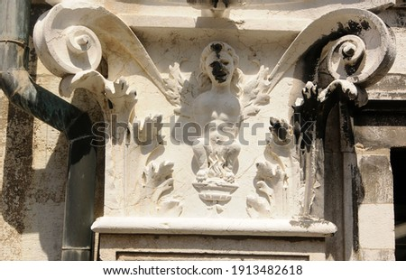 a column, stele or stela for buildings in architecture Foto d'archivio ©