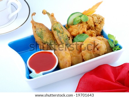 a combination of delicious & hot samosa and snacks