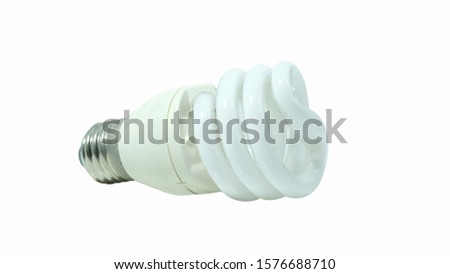 A compact fluorescent lamp (CFL), also called compact fluorescent light, energy-saving light bulb isolated on white background.