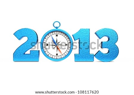 a compass as a part of concept, choose you direction on 2013 year