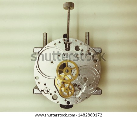 A component of the mechanical watch.