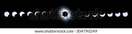A composite of  Total Solar Eclipse phases 29th March 2006, Turkey