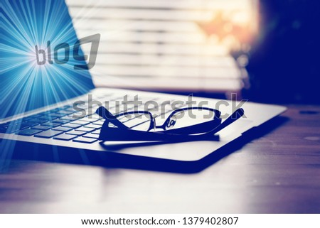 A computer, a blog and a blog #1379402807