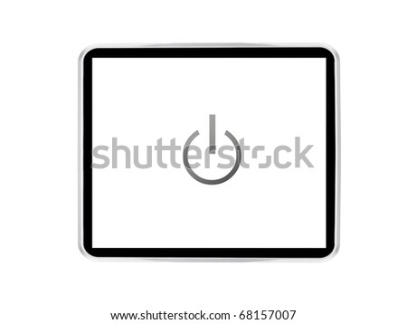A computer tablet isolated against a white background