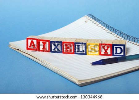 A concept based on dyslexia and its difficulties.