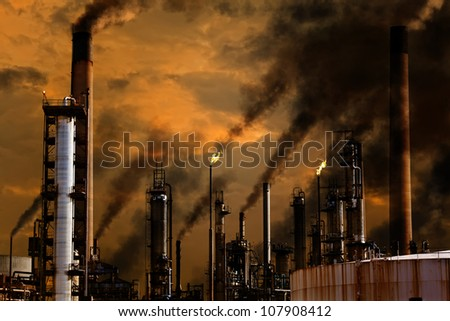 A concept illustrating the toxic emissions of industry.