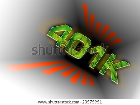 A conceptual illustration of a 401k savings plan going down the tubes.  Many people are losing hundreds and thousands of dollars due to the current economic crisis.