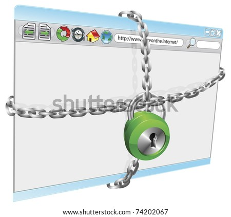 A conceptual illustration of internet security