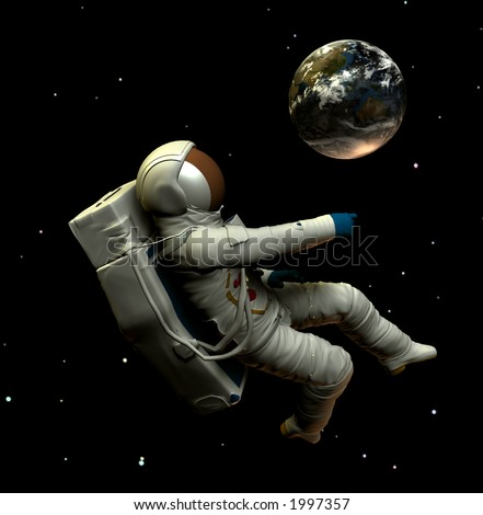 astronaut floating in space image - photo #44