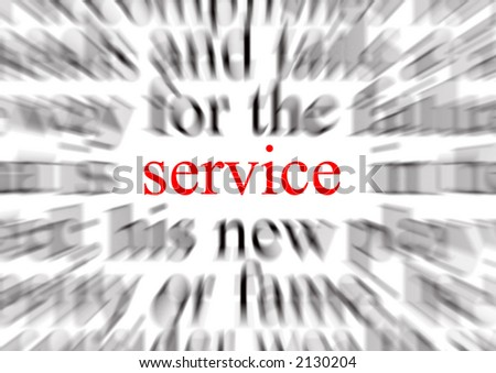 A conceptual image representing a focus on service