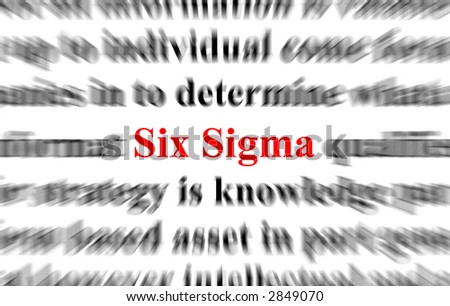 a conceptual image with the focus on the words six sigma