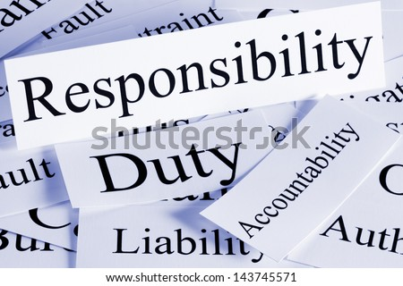 A conceptual look at responsibility, Duty, Accountability, Liability Foto d'archivio ©