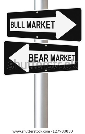 A conceptual road sign on business or finance