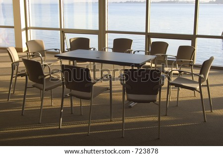 A conference room with a view. - stock photo
