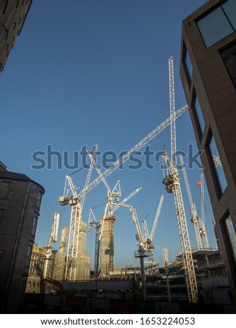 A construction crane in the city building site