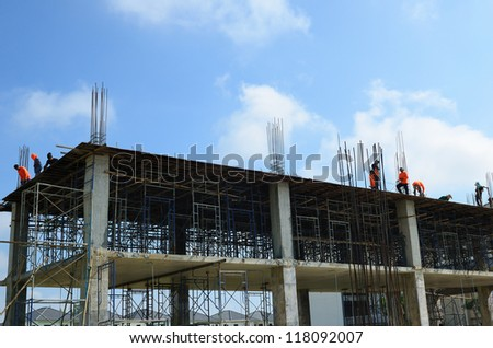 A construction worker on construction site