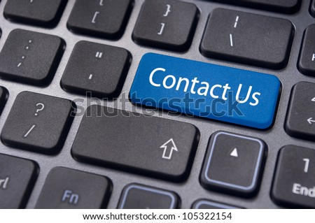A 'contact us' message on keyboard, internet or online contact through website.